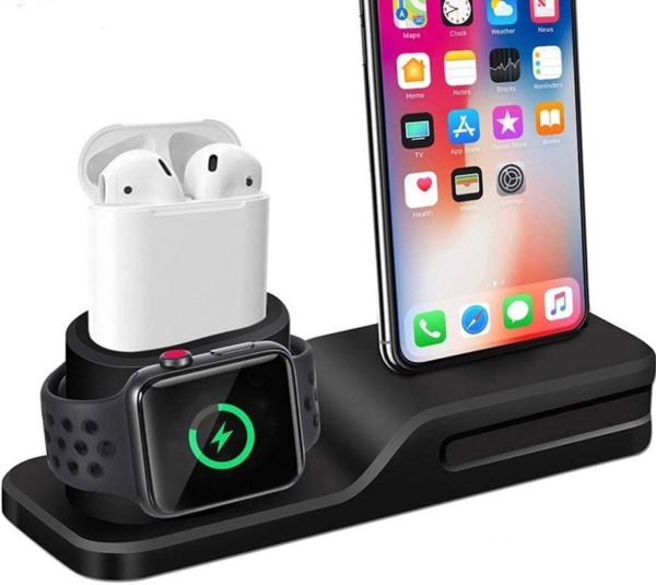3 in 1 Docking Station voor Apple Iphone/Watch/Airpods - High Quality Siliconen Oplader stand Dock station voor Apple Iphone Smart watch Airpods oordopjes