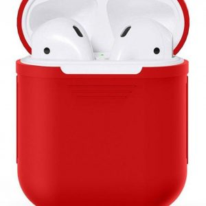 Airpods Silicone Case Cover Hoesje voor Apple Airpods - Rood