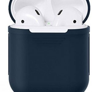 Airpods Silicone Case Cover Hoesje voor Apple Airpods - Donker Blauw