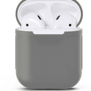 Airpods Silicone Case Cover Hoesje voor Apple Airpods - Grijs