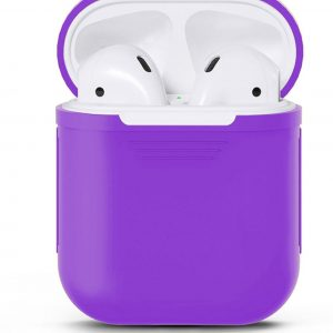 Airpods Silicone Case Cover Hoesje geschikt voor Apple Airpods 1 / 2 - Paars