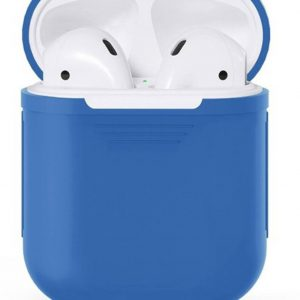 Airpods Silicone Case Cover Hoesje voor Apple Airpods - Blauw