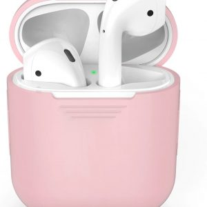 Airpods Silicone Case Cover Hoesje voor Apple Airpods - Lichtroze