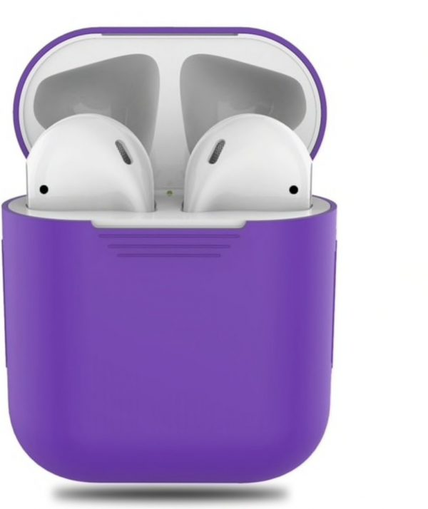 Airpods Silicone Case Cover Hoesje voor Apple Airpods - Paars