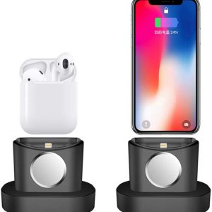 Apple 3 in 1 Dock voor iPhone, Apple iWatch en Airpods
