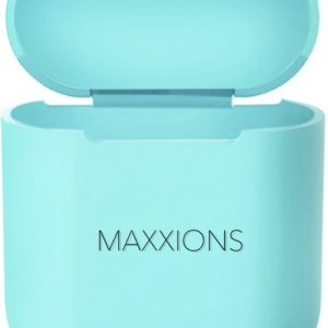 Maxxions Airpods Silicone Case Cover Hoesje voor Apple Airpods - Cyaan Turquoise Licht Blauw