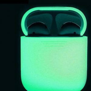 Silicone Case / Cover / Hoesje voor Apple Airpods - Glow in the Dark