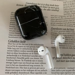 """AirPod Case """"Black Marble"""" - Airpods hoesje - Airpods case - Airpod case - Airpod hoesje"""