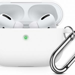 Apple AirPods Pro Soft Silicone Hoesje Met sleutelhanger - Wit