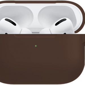 Siliconen Hoes Voor Apple AirPods Pro Hoesje Case Hoes - Bruin