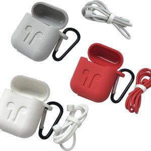 3-Pack Case Hoes Voor Apple Airpods - Beschermhoes Cover - Wit / Rood / Zwart