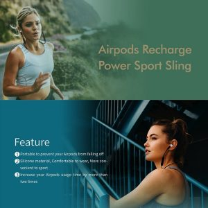 AirPods silicone/anti lost recharge power sport strap