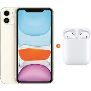 Apple iPhone 11 128 GB Wit + Apple AirPods 2 met oplaadcase