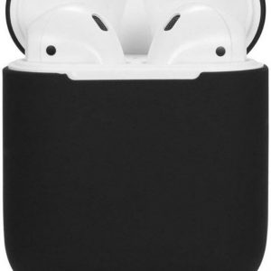 Silicone Hoesje Apple Airpods 1/2 Oplaadcase Cover draadloos Airpods l Airpods Hoesje Siliconen Case - Zwart