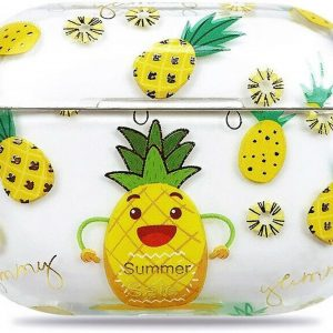 Teleplus Apple Airpods Pro Case Pineapple Pattern Silicone hoesje