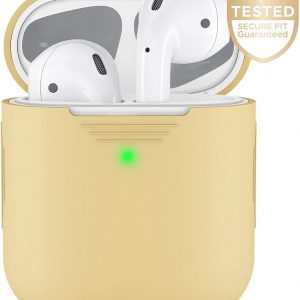 Airpods Hoesje - Silicone - Geel