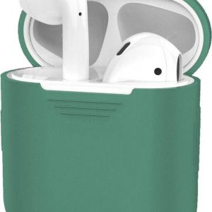 Hoes voor Apple AirPods 1 Case Siliconen Hoesje Ultra Dun - Midnight Green