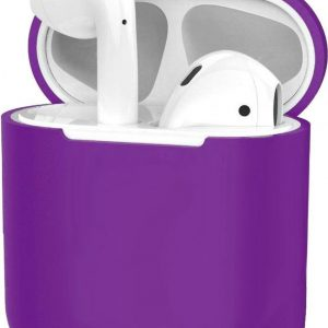 Hoes voor Apple AirPods Hoesje Case Siliconen Cover Ultra Dun - Paars