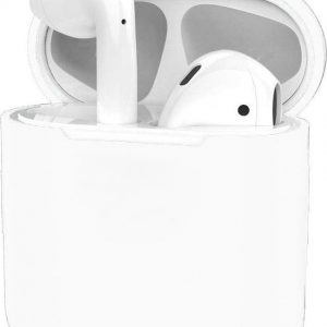 Hoes voor Apple AirPods Hoesje Case Siliconen Cover Ultra Dun - Wit