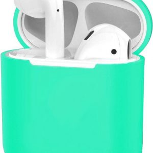 Hoes voor Apple AirPods Hoesje Case Siliconen Ultra Dun - Turquoise